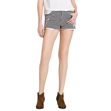 Buy Mango Striped Ripped Shorts Online at johnlewis.com