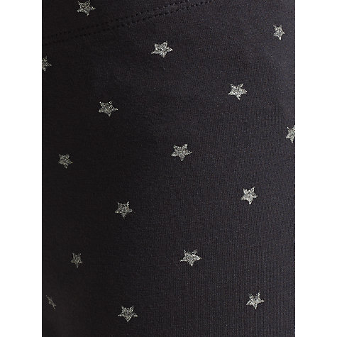 Buy John Lewis Girl Star Leggings, Charcoal Online at johnlewis.com