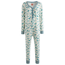 Buy Joules Puck Bird Print Onesie, Multi Online at johnlewis.com