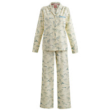 Buy Joules Flannel Bird Print Pyjama Set Online at johnlewis.com