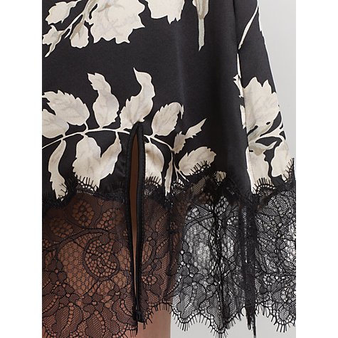Buy Somerset by Alice Temperley Alice Floral Chemise, Black / Multi Online at johnlewis.com
