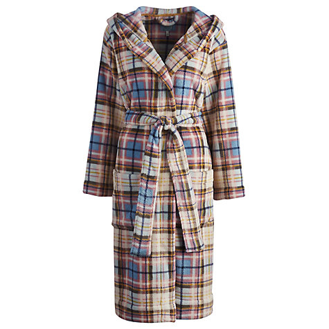Buy Joules Rita Check Robe, Multi Online at johnlewis.com