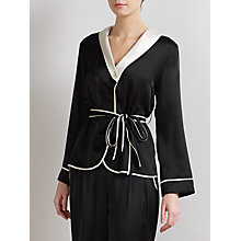 Buy Somerset by Alice Temperley Tuxedo Pyjama Set, Black Online at johnlewis.com