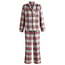 Buy Joules Check Flannel Pyjama Set, Multi Online at johnlewis.com