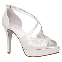Buy Nine West Bumblelion2 Platform Shoes, White Online at johnlewis.com
