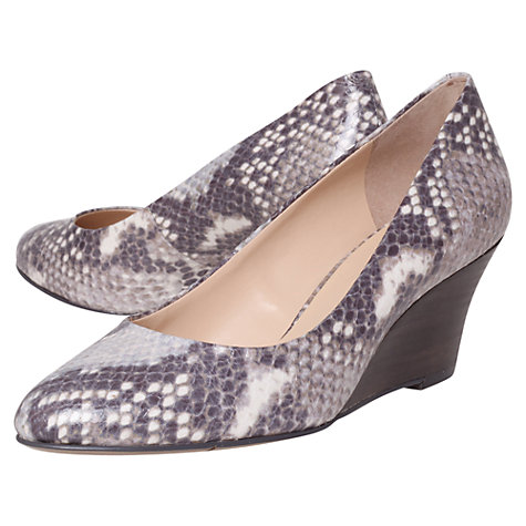 Buy Nine West Mela3 Wedged Court Shoes, Purple/ Grey Online at johnlewis.com