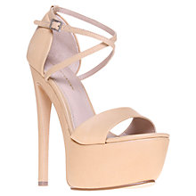 Buy KG by Kurt Geiger Nanette Platform Leather Sandals Online at johnlewis.com