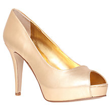 Buy Nine West Camya Platform Shoes, Gold Online at johnlewis.com