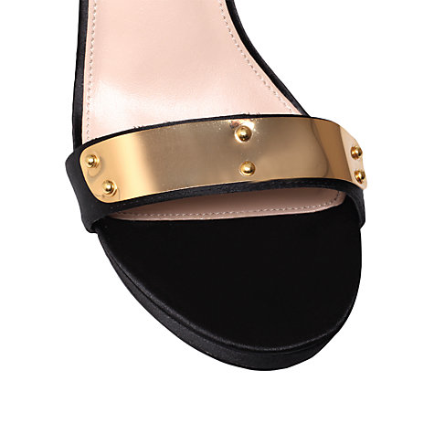 Buy Carvela Glide Heeled Occasion Sandals, Black Online at johnlewis.com