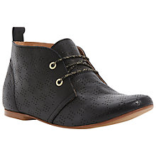 Buy Dune Lisante Laser Cut Out Desert Boots Online at johnlewis.com