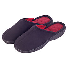 Buy Totes Secret Sole Front Seam Pillowstep Mule Slippers, Black Online at johnlewis.com