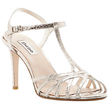 Buy Dune Hopeful T-Bar Heeled Sandals Online at johnlewis.com
