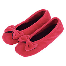 Buy Totes Velour Big Bow Ballerina Slippers Online at johnlewis.com