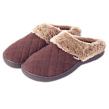 Buy Totes Woodlands Quilted Mule Slippers, Brown Online at johnlewis.com