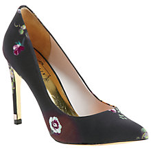 Buy Ted Baker Herrer Floral Court Shoes, Black/Floral Online at johnlewis.com
