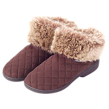 Buy Totes Woodlands Quilted Slippers, Brown Online at johnlewis.com