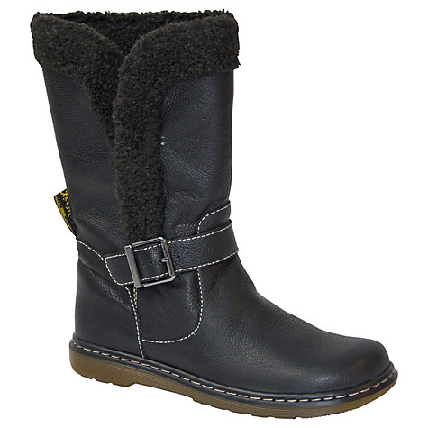 Buy Dr. Martens Elate Brielle Calf Boots, Black Online at johnlewis.com