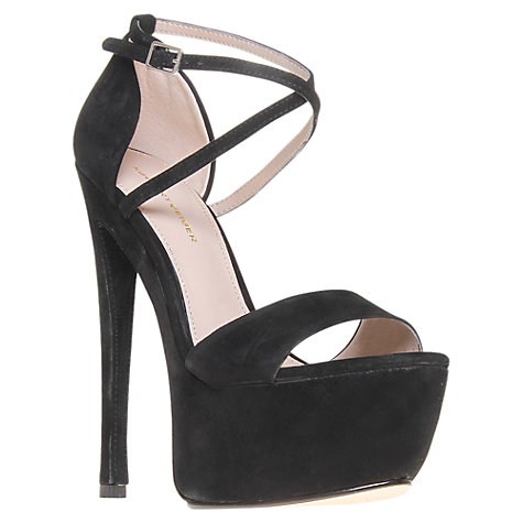 Buy KG by Kurt Geiger Nanette Platform Sandals, Black Suede Online at johnlewis.com