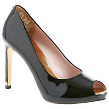 Buy Ted Baker Abesi Peep Toe Platform Court Shoes, Black Online at johnlewis.com