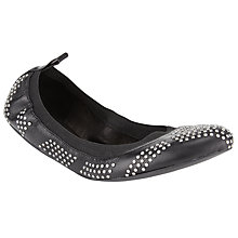 Buy See by Chloé Sharon Studded Ballet Pump Shoes, Black Online at johnlewis.com