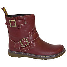 Buy Dr. Martens Elate Gayle Ankle Boots, Red Online at johnlewis.com