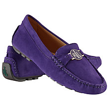 Buy Lauren by Ralph Lauren Carley Suede Moccasins Online at johnlewis.com