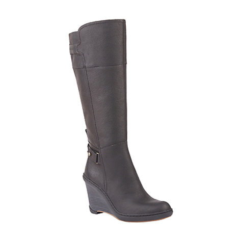 Buy Timberland Stratham Heights Wedge Knee Boots, Black Online at johnlewis.com