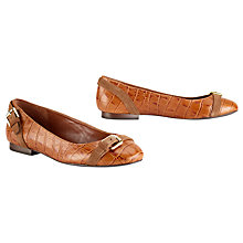 Buy Lauren by Ralph Lauren Ariel Leather Ballerina Pumps, Dark Brown Online at johnlewis.com