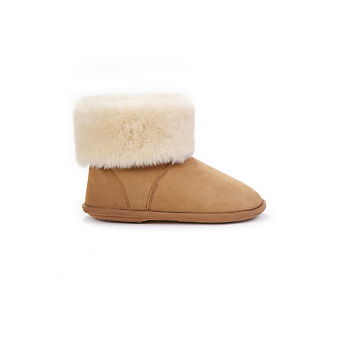 Buy Just Sheepskin Albery Slippers, Chestnut Online at johnlewis.com
