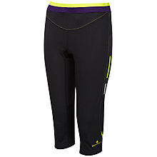 Buy Ronhill Women's Vizion Contour Capri Pants, Black/Yellow Online at johnlewis.com