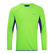 Buy Ronhill Men's Vizion Long Sleeve Running Top, Green/Blue Online at johnlewis.com