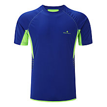 Buy Ronhill Men's Vizion Short Sleeve Running Top, Blue/Green Online at johnlewis.com