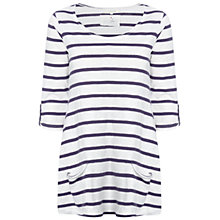 Buy White Stuff Chesil T-Shirt, Purple Online at johnlewis.com