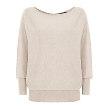 Buy Mint Velvet Batwing Jumper, Neutral Online at johnlewis.com