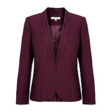 Buy Jacques Vert Layered Collar Occasion Jacket, Wine Online at johnlewis.com