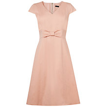 Buy Jaeger Bow Front Dress, Peach Online at johnlewis.com
