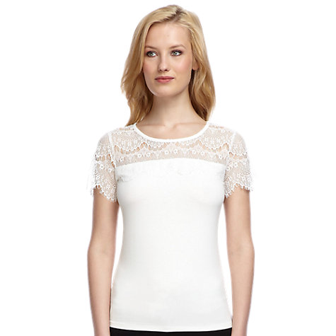 Buy Planet Lace Panel Jersey Top Online at johnlewis.com