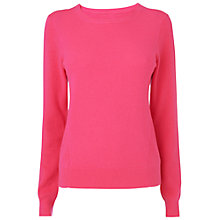 Buy Jaeger Cashmere Jumper, Bright Pink Online at johnlewis.com