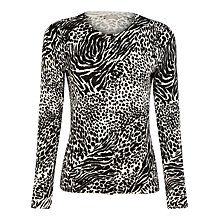 Buy Planet Animal Print Cardigan, Multi Online at johnlewis.com