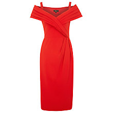 Buy Alexon Tailored Bardot Dress, Red Online at johnlewis.com