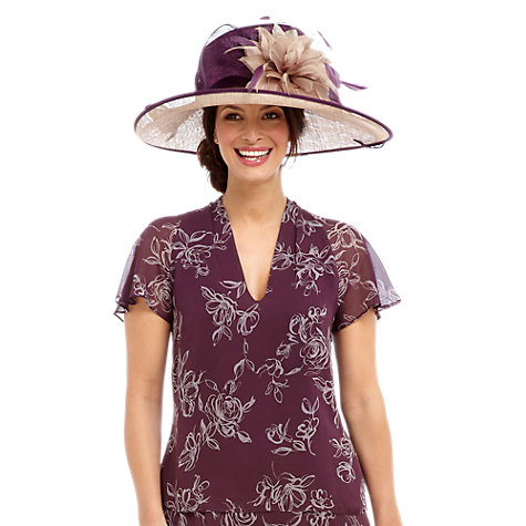 Buy Jacques Vert Rose Print Blouse, Purple Online at johnlewis.com