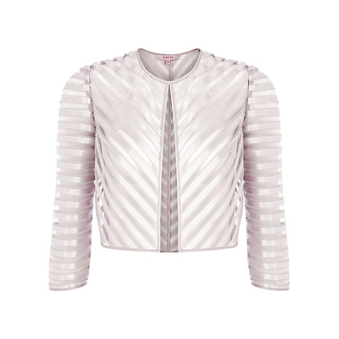 Buy Jacques Vert Mesh Satin Bolero, Oyster Online at johnlewis.com