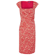 Buy Alexon Lace Jacquard Dress, Red Online at johnlewis.com