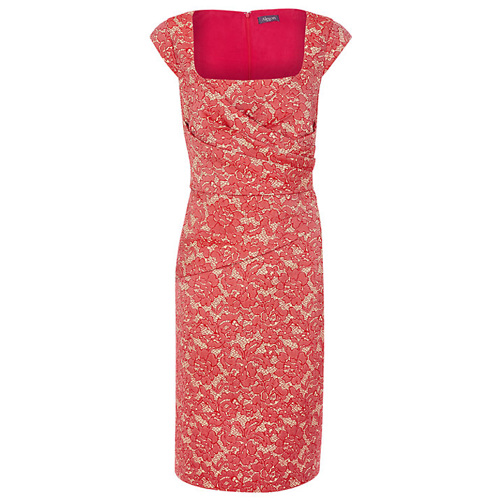 Buy Alexon Lace Jacquard Dress, Red, 8 Online at johnlewis.com