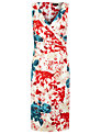 Alexon Rose Print Dress, Red/Blue