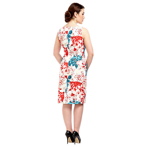 Buy Alexon Rose Print Dress, Red/Blue Online at johnlewis.com