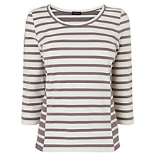 Buy Jaeger Bodycon Striped Top, Taupe Online at johnlewis.com