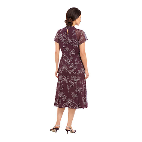 Buy Jacques Vert Rose Print Skirt, Purple Online at johnlewis.com