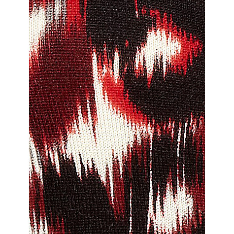 Buy Planet Blurred Animal Print Cardigan, Red / Multi Online at johnlewis.com