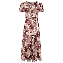 Buy Jacques Vert Floral Delights Tea Dress, Purple Online at johnlewis.com